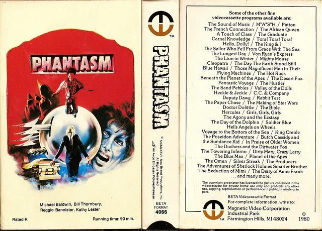 Phantasm (VHS Box Art)