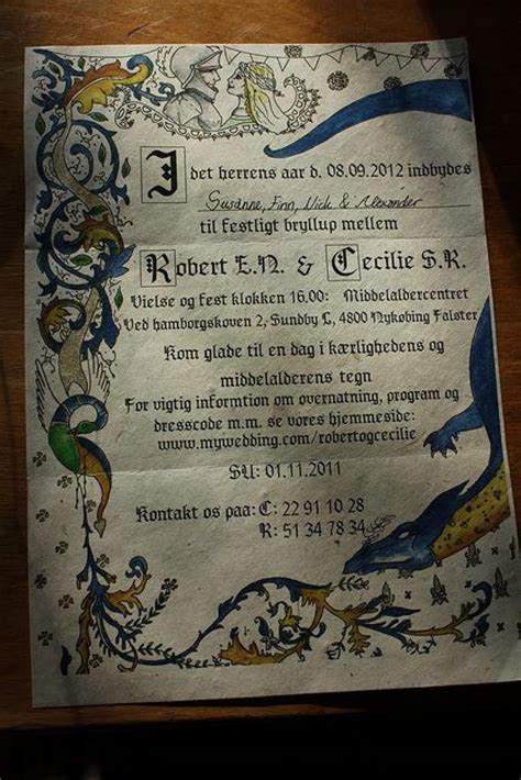 17 Best images about Medieval Wedding Invites on Pinterest