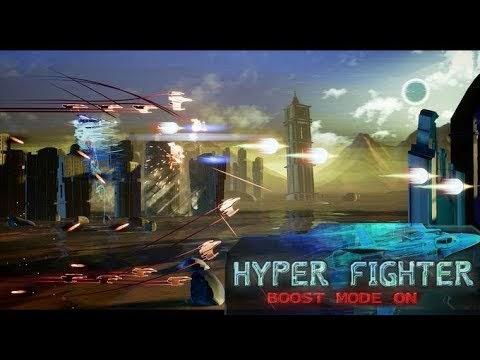 HyperFighter Boost Mode ON - Gameplay & Boss Fight - first
