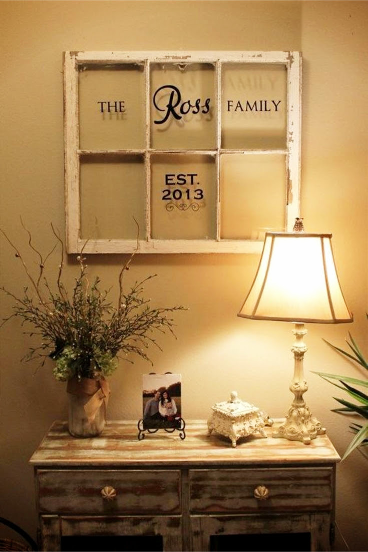 Old Window Frames Diy Ideas And Window Frame Crafts Involvery