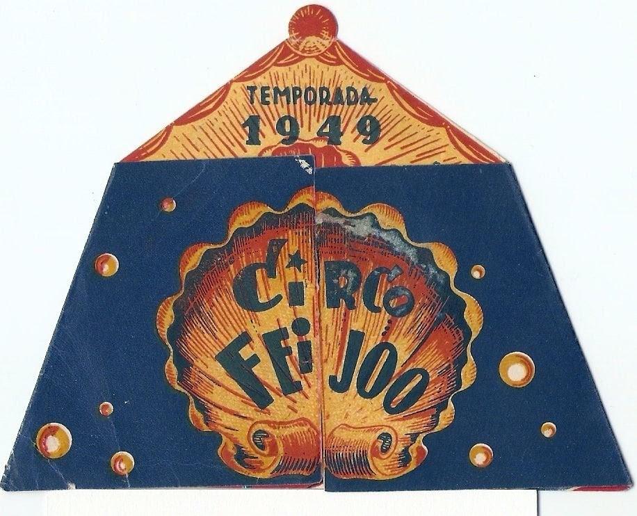 Programa de mano del circo del año 1949.