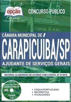 Apostila Concurso Câmara de Carapicuíba 2018 | AJUDANTE DE SERVIÇOS GERAIS
