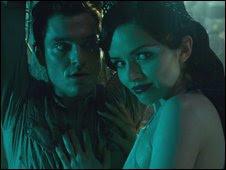 MATHEW HORNE as Jimmy McLaren (left) with VERA FILATOVA as Eva
