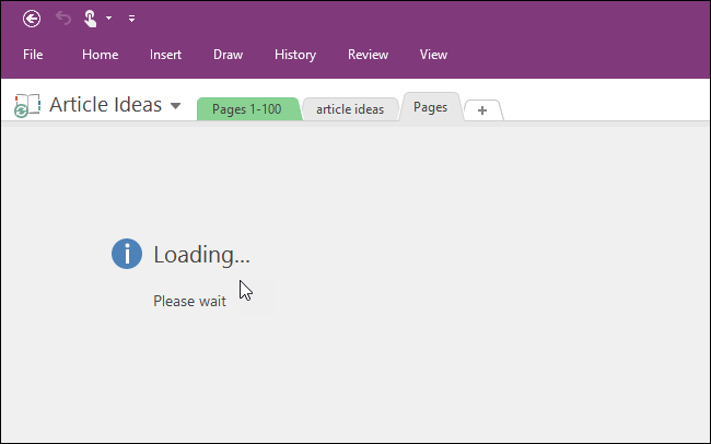 Loading time differs with how many notebooks there are. Evernote to OneNote.