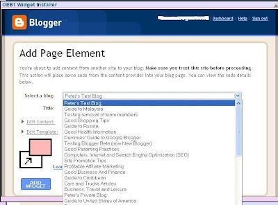 OEB1 Widget Installer