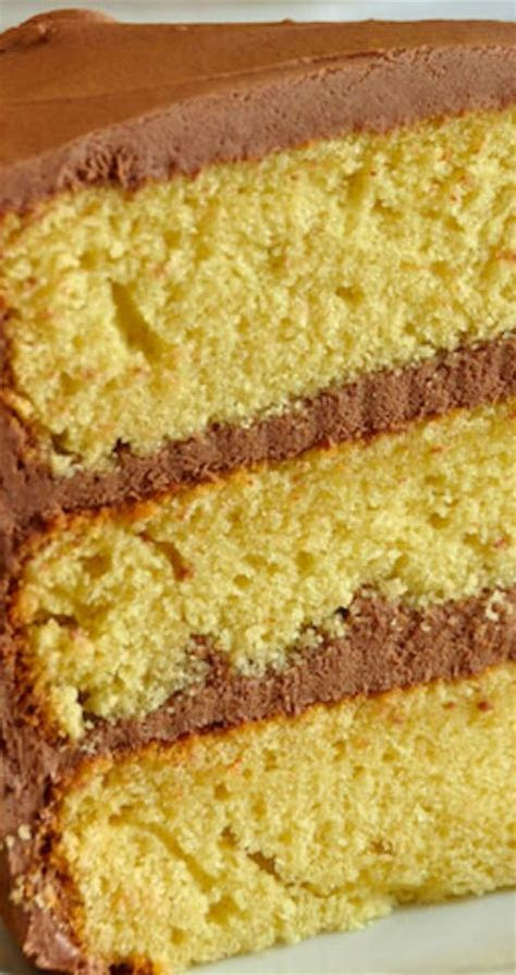 yellow cake recipe homemade  scratch
