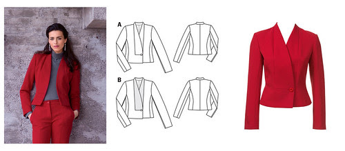 Burda jacket collage
