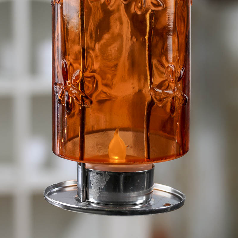 Glass Bottle LED Tea Light Candle Holder - Lighting and ...