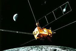 Artist rendition of Japan's SELENE spacecraft.