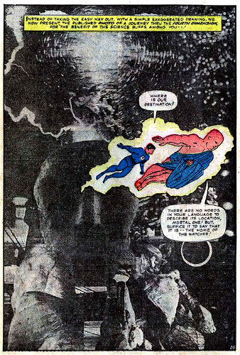 Jack Kirby photomontage from Fantastic Four Annual #3 (1965)