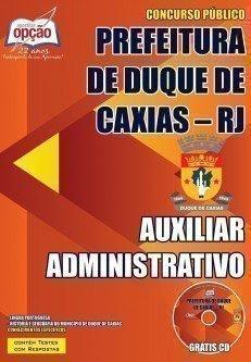 Concurso Secretaria de Educação Duque de Caxias: Auxiliar Administrativo