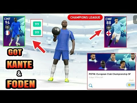 Got KANTE & FODEN | POTW European Club Champions League SF Pack Opening | PES 2021 MOBILE