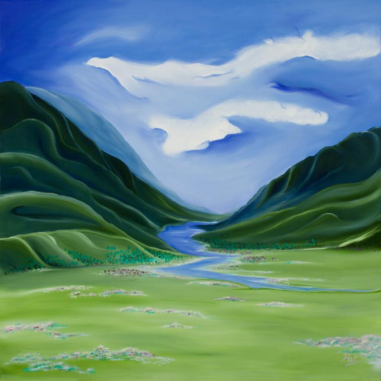 Alaskan Wilderness – [Oil on Linen: 101cm x 101cm x 3.8cm]