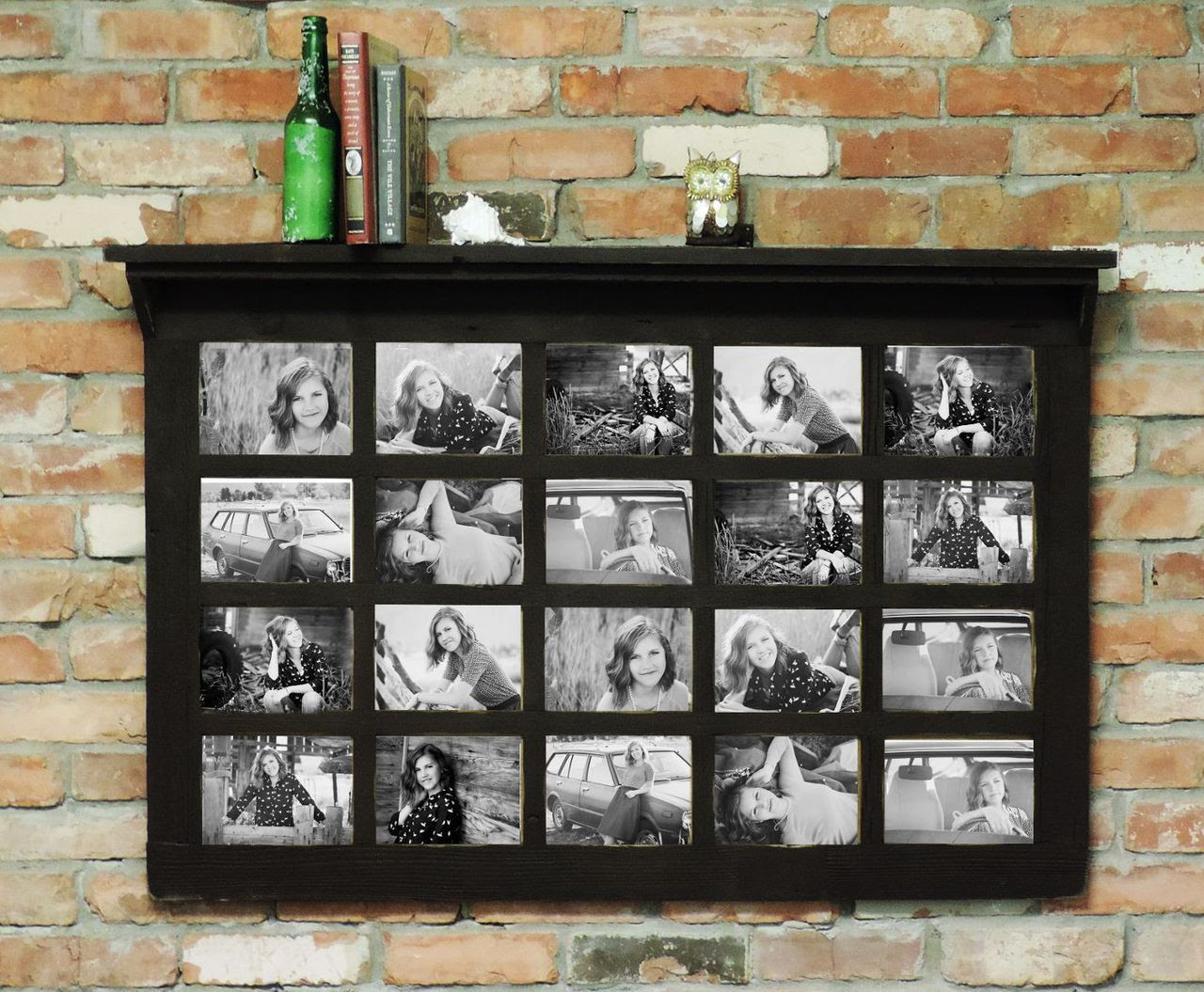 Smothery Collage Photo Frame Wooden Wall Locking Jewelry Armoire X