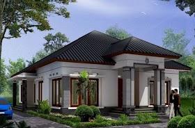 Sketsa Rumah Diatas Bukit