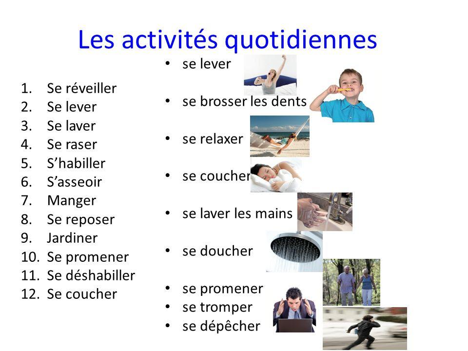 Czasowniki zwrotne - przykładowe czasowniki zwrotne 3 - Francuski przy kawie