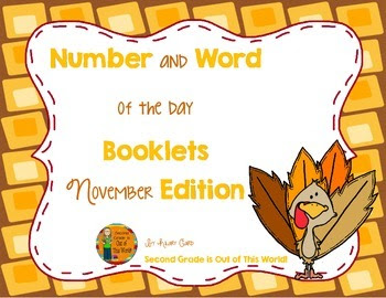 Number and Word of the day booklets: November Edition