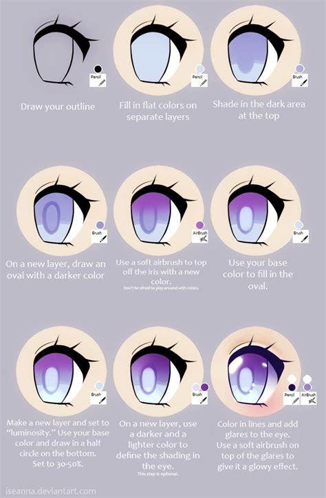 anime eye tutorial  iseanna  deviantart   eye