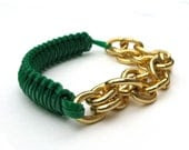 Charley Arm Candy Trust Fund - Kelly Green Cobra Bracelet