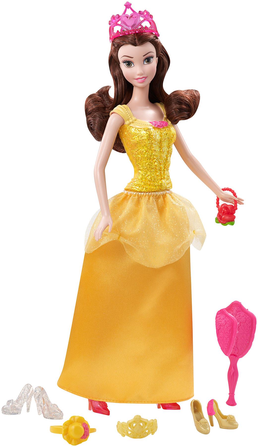 Disney Princess Sparkle Princess Belle Doll and ...