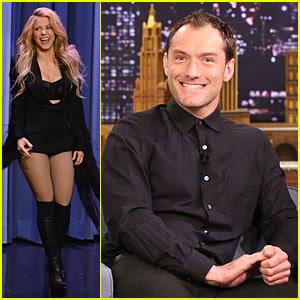 Shakira e Jude Law sono corrispondenti ospiti sul 'Tonight Show'!