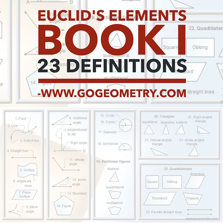 Euclid's Elements Book I, Definitions, Typography, Mobile Apps, iPad.