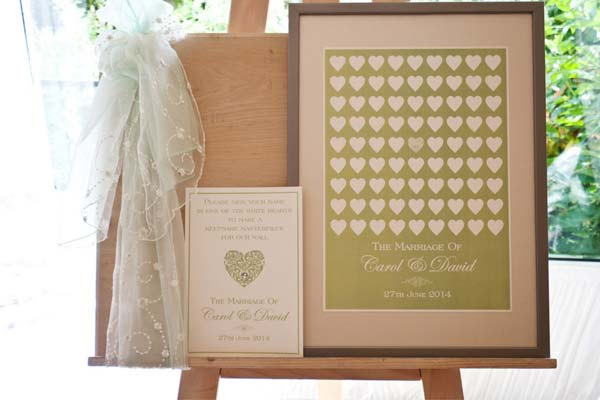 Brambles Wedding Stationery Guest Signing Frames