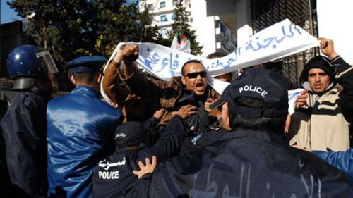 Algerians protest for jobs in the south of the country. Unemployment is extremely high in the region of this North African state. by Pan-African News Wire File Photos