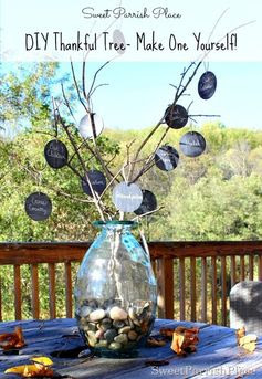 DIY Thankful Tree- A great craft idea to make for the whole family for Thanksgiving!