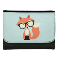 Cute Hipster Red Fox Wallets