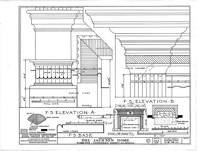 HABS ALA,39-FLO.V,3- (sheet 13 of 18) - Forks of Cypress, Savannah Road (Jackson Road), Florence, Lauderdale County, AL