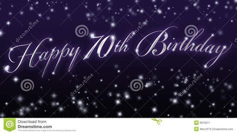 Happy 70th Birthday Banner stock illustration
