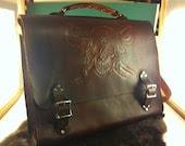Leather Pirate Messenger Bag - XtreamLeatherworks