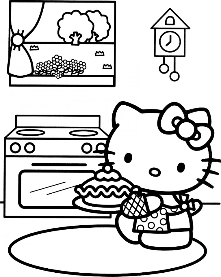 Get This Hello Kitty Coloring Pages Online wat3b