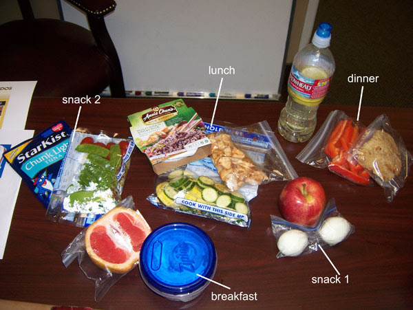 Chelle's clean and healthy food in her cooler