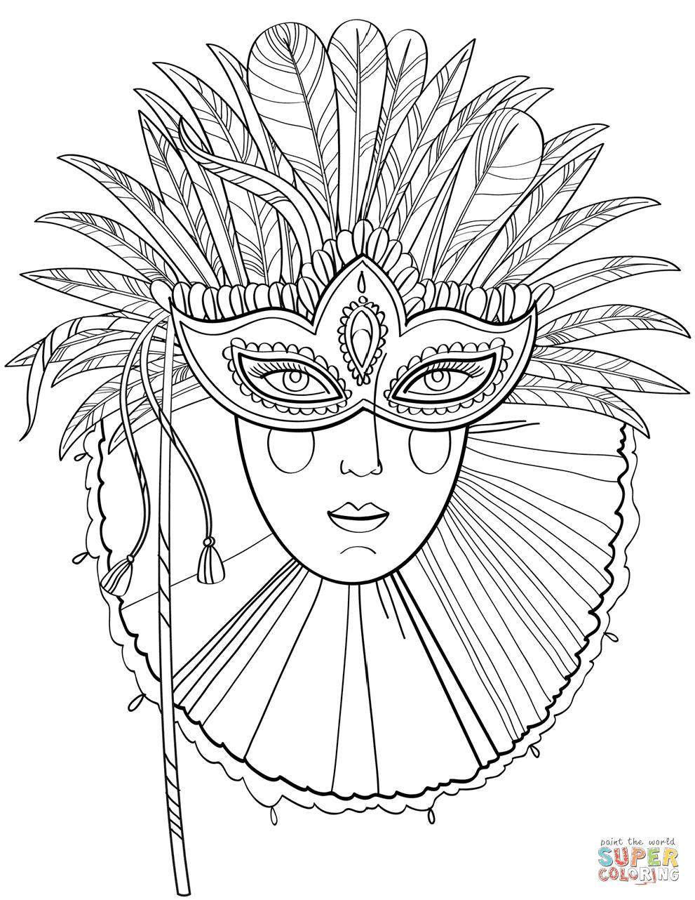 Kleurplaten Carnaval A4.Kleurplaten Van Carnaval Maskers Krijg Duizenden Kleurenfoto S Van