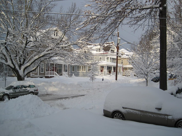 Vandenveter Avenue after the snow