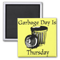 Garbage Day Thursday Reminder Magnet
