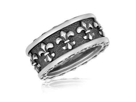 Fleur De Lis Style Men's Ring in Sterling Silver   Richard