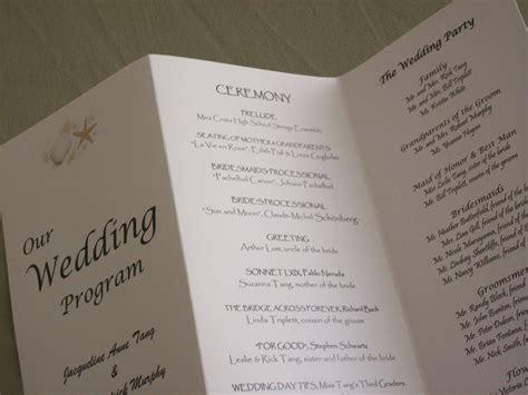 Original Wedding Programs!   weddingswithinsight