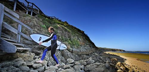 Surfer at Winkipop, Bells Beach, Torquay, Victoria, Australia IMG_7797_Torquay_Edit