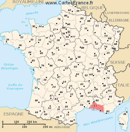 Bouches Du Rhone Map Cities And Data Of The Departement