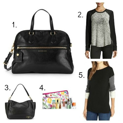 Marc by Marc Jacobs Handbag - Rebecca Taylor Blouse - Prada Handbag - Clinique Free GWP - Hayden Cashmere Sweater