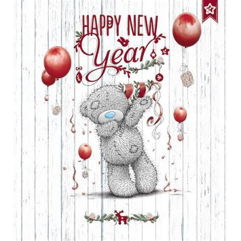 Happy New Year Card Me To You   Tatty Teddy Bear Christmas