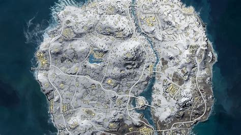 pubg snow map vikendi  start locations  snow map