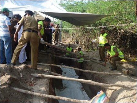 Mass graves found in Mannaar