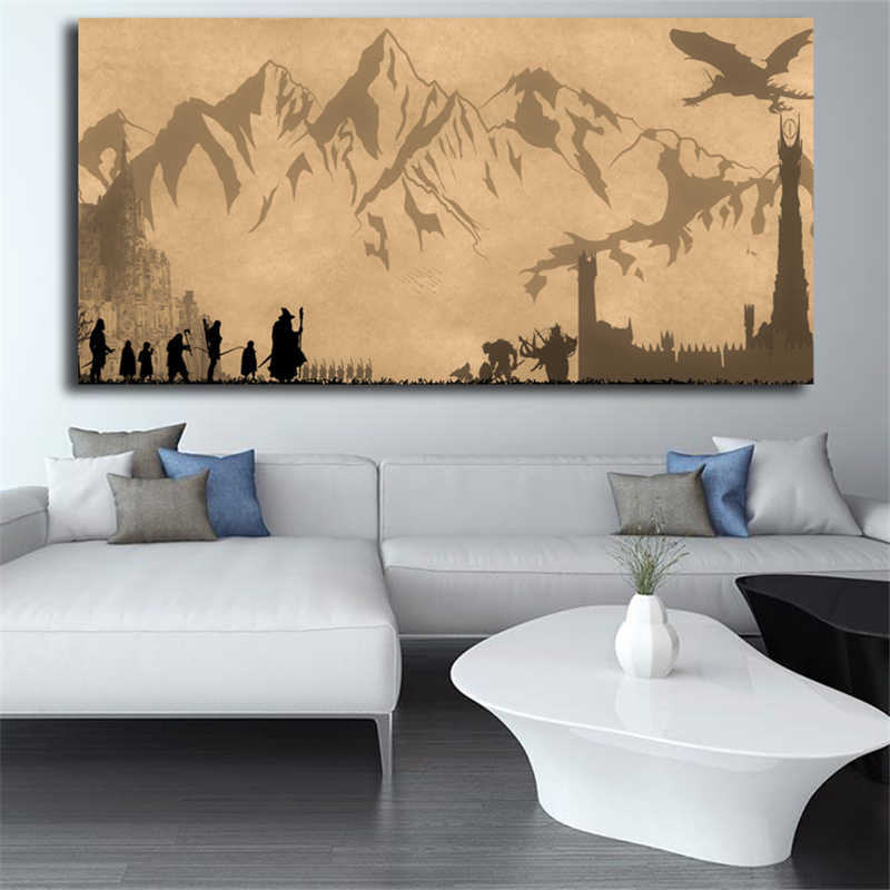 The Lord Of The Rings Wallpaper Lotr Canvas Painting Print