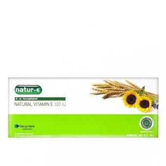 Harga Natur E Natural Vitamin E 100 IU 32 s Suplemen Kulit ...