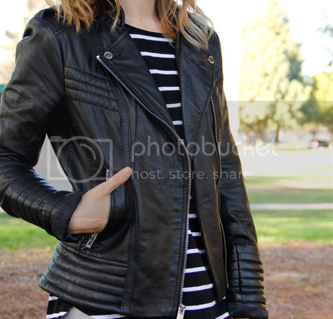 Michael Michael Kors asymmetric leather moto jacket