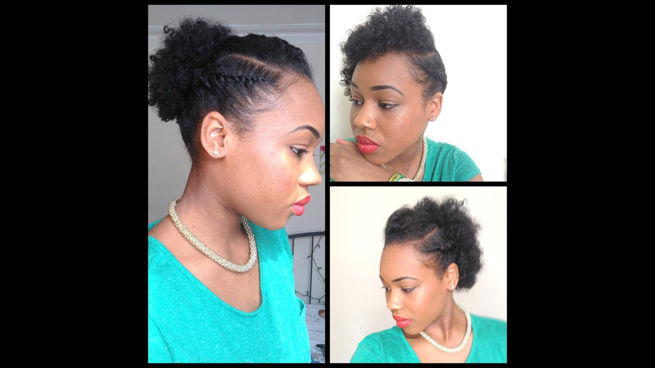 Quick Easy style for short Natural Hair ( wash and go 5th day styles ...